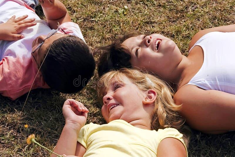 dzieciaki trzy obraz royalty free