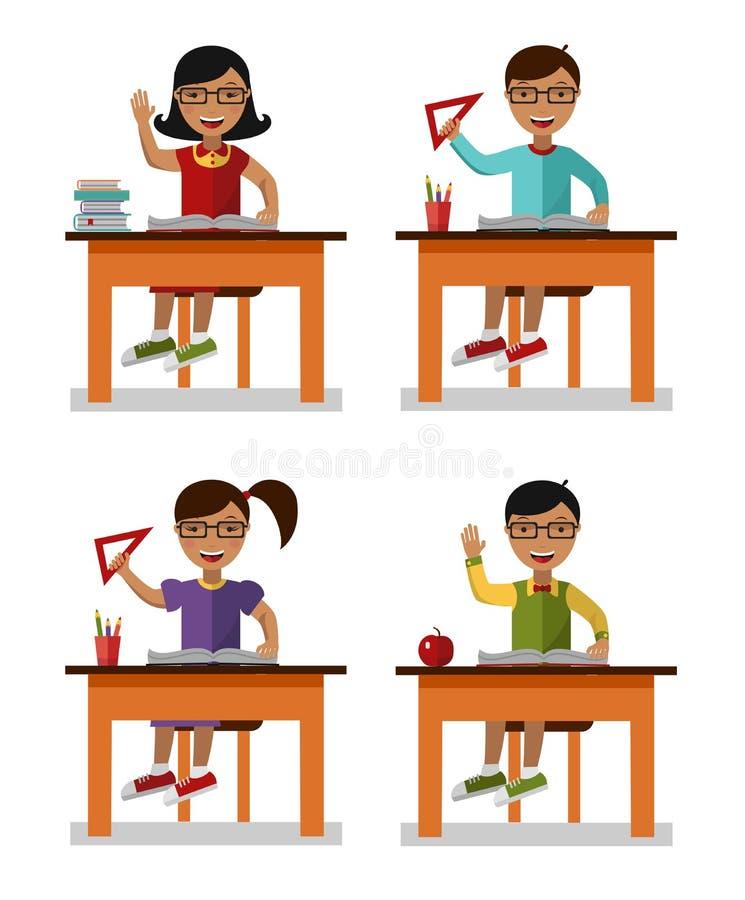 Dzieciaki uczą się pojęcie ilustracja wektor