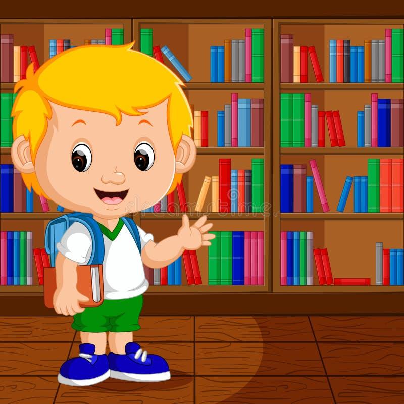 Dzieciaki w bibliotece ilustracja wektor
