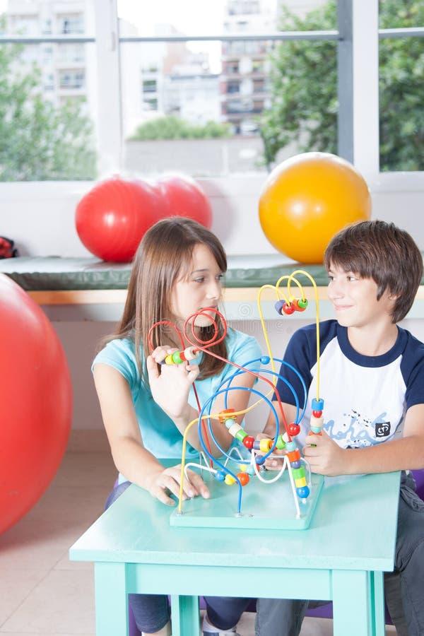 Dzieciaki w rehabilitaci fotografia royalty free