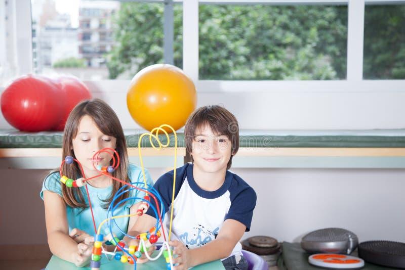 Dzieciaki w rehabilitaci zdjęcia royalty free