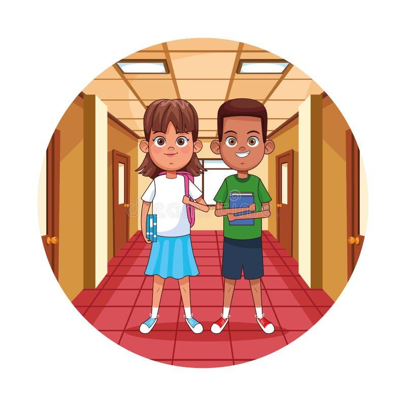 Dzieciaki w szkole ilustracja wektor