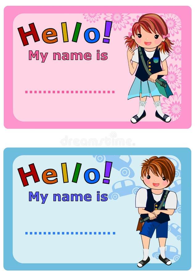 dzieciaki wymieniają etykietki ilustracji