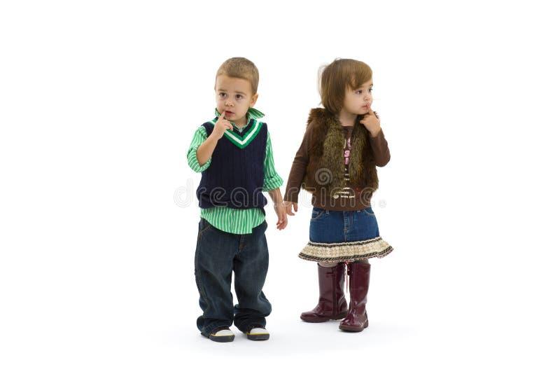 dzieciaki zaskakujący zdjęcia stock