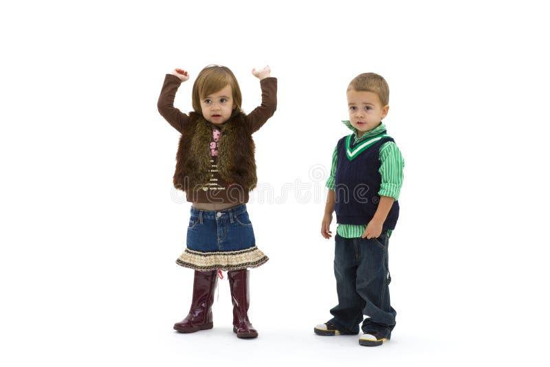 dzieciaki zaskakujący zdjęcie stock