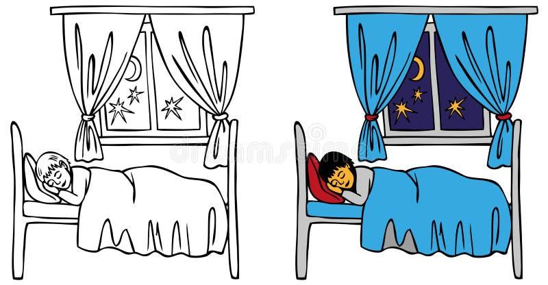 dziecka łóżka dosypianie ilustracji