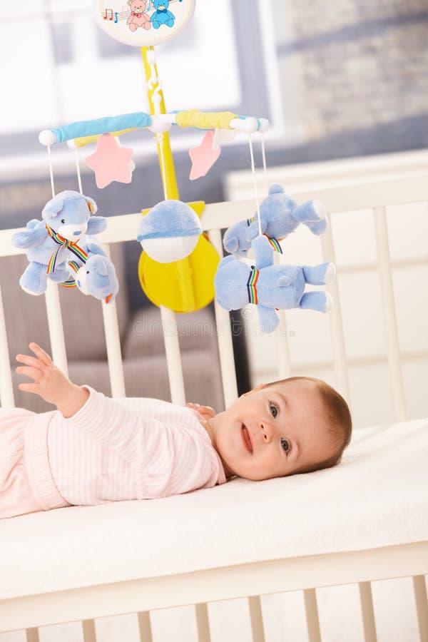 dziecka łóżka dziewczyny ja target1513_0_ obraz stock