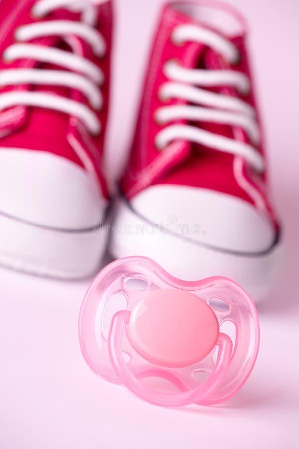 dziecka atrapy buty obraz stock