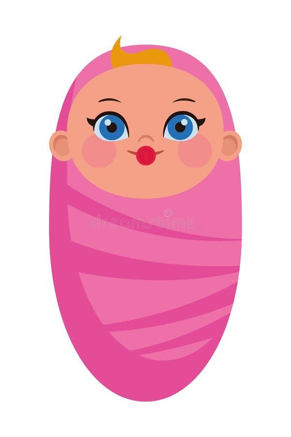 Dziecka avatar chroniona posta? z kresk?wki royalty ilustracja