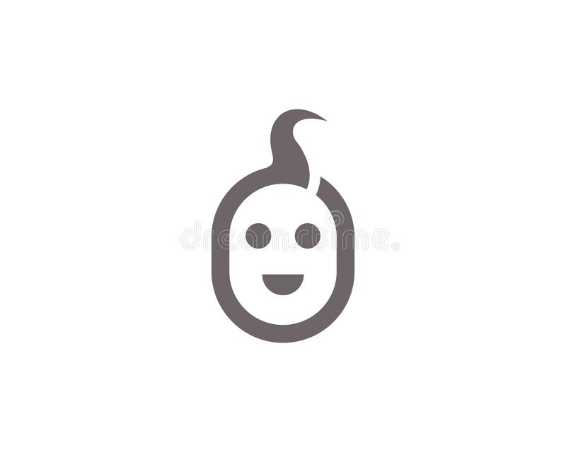 Dziecka avatar ikon wektoru ilustracja royalty ilustracja