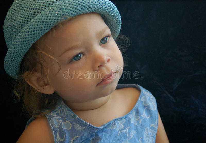 Dziecka błękit zdjęcia royalty free