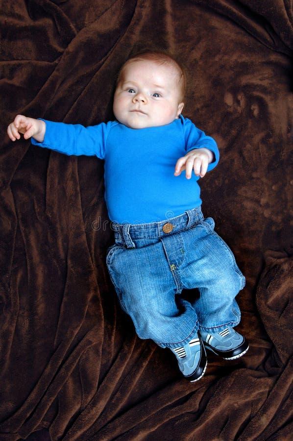 dziecka błękit cajg jego miłość obrazy royalty free