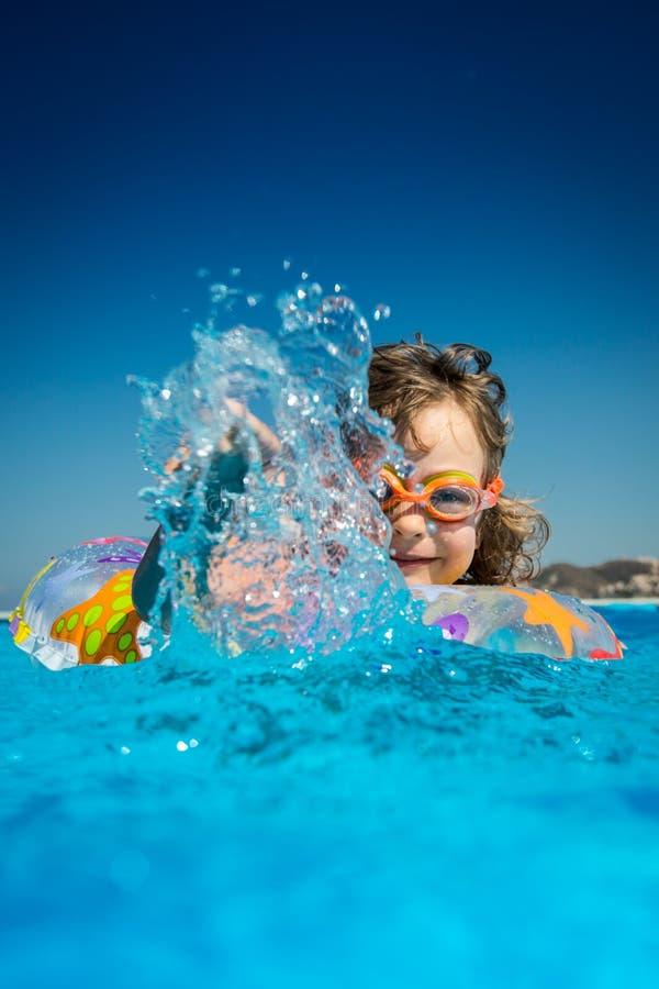 dziecka basenu sporta dopłynięcia woda zdjęcie stock