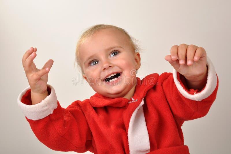 dziecka bożych narodzeń ręk szczęśliwy nastroszony fotografia stock