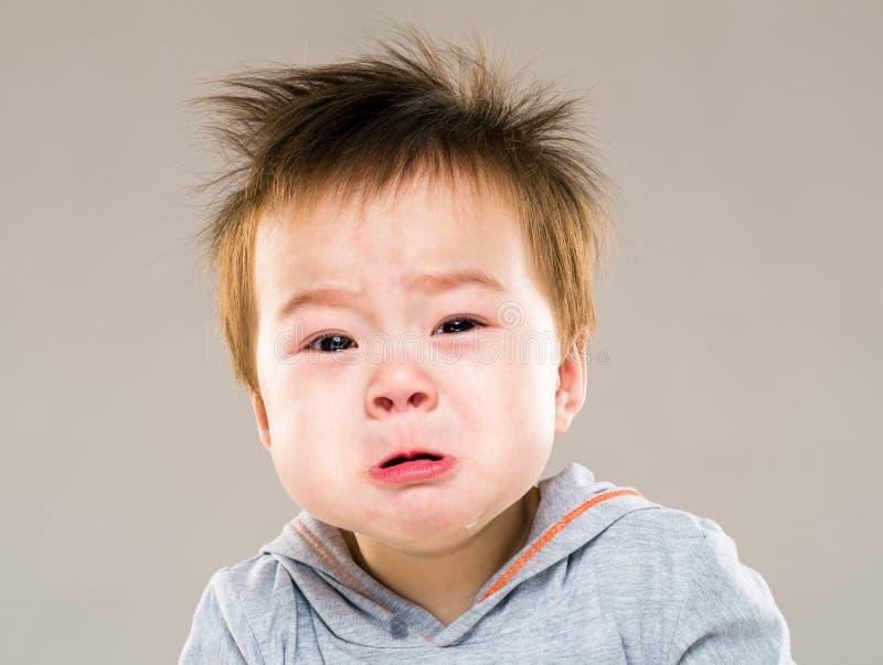 Dziecka bora płacz fotografia royalty free