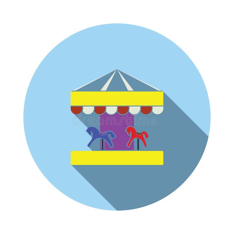 Dziecka carousel końska ikona ilustracji