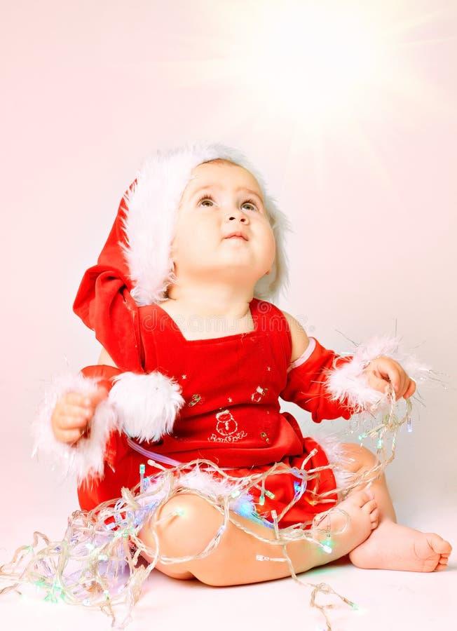 dziecka Claus kapelusz Santa zdjęcia royalty free