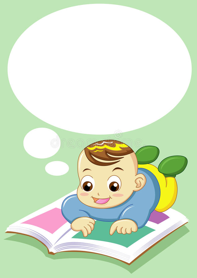 dziecka czytanie ilustracji