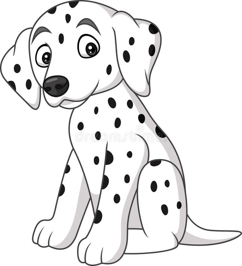 Dziecka dalmatian psa traken ilustracji