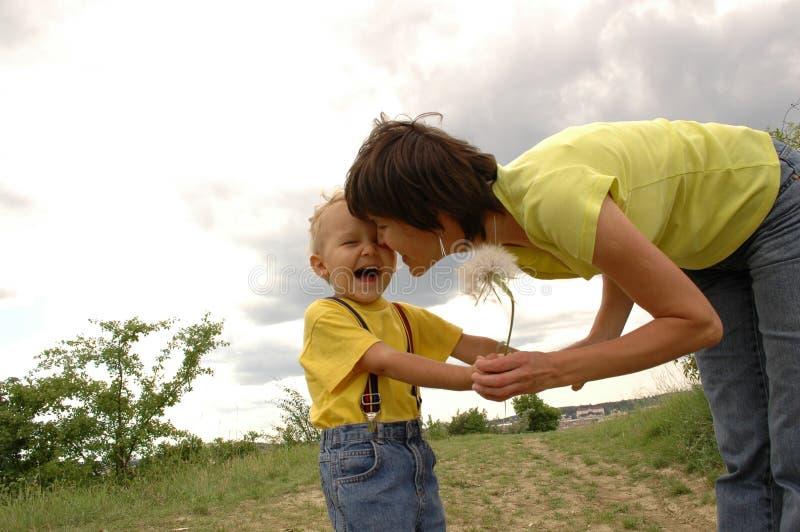 dziecka dandelion matka obraz royalty free