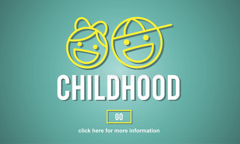 Dziecka dzieciństwo Żartuje potomstwo strony internetowej pojęcie royalty ilustracja