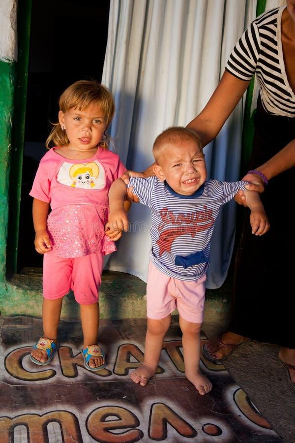 dziecka dziecko gypsy Roma zdjęcia royalty free