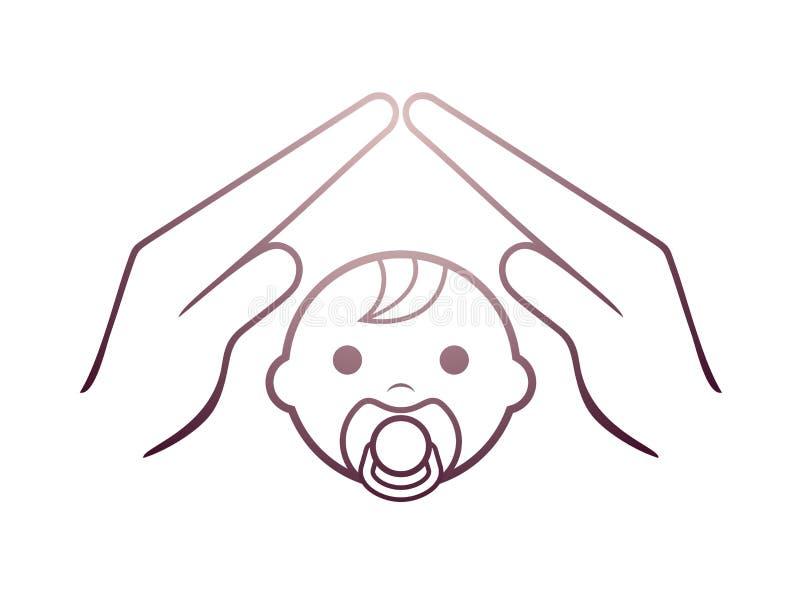 Dziecka gacenia symbol ilustracja wektor
