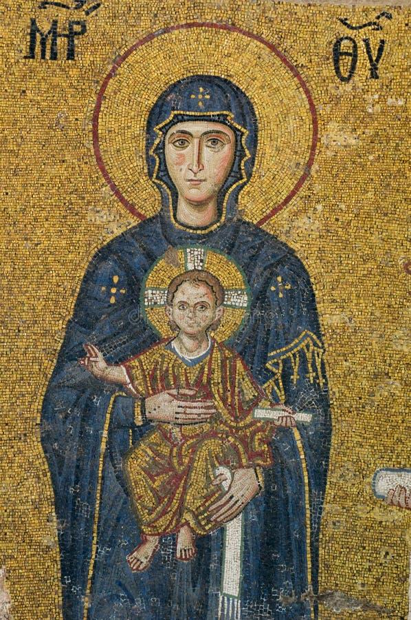 dziecka hagia mozaiki matki sophia dziewica obrazy royalty free