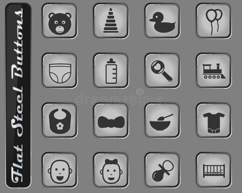 Dziecka ikony set ilustracji