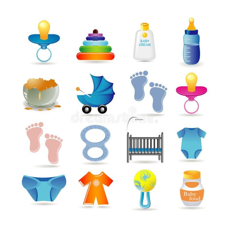 dziecka ikony set royalty ilustracja