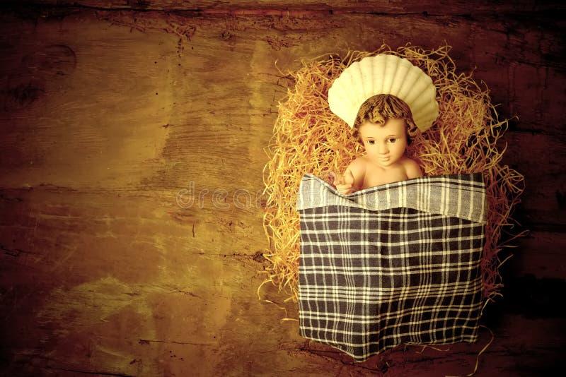 Dziecka Jezus kartka bożonarodzeniowa fotografia stock