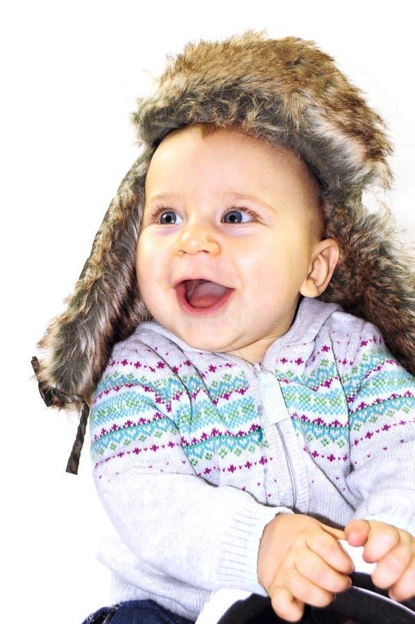 dziecka kapeluszu zima fotografia stock