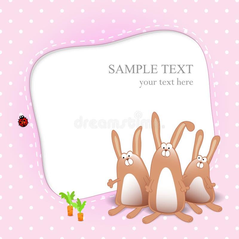 dziecka karciany kreskówki dziewczyny królików wektor ilustracja wektor