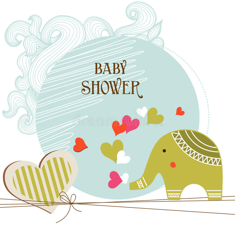 dziecka karty prysznic ilustracji