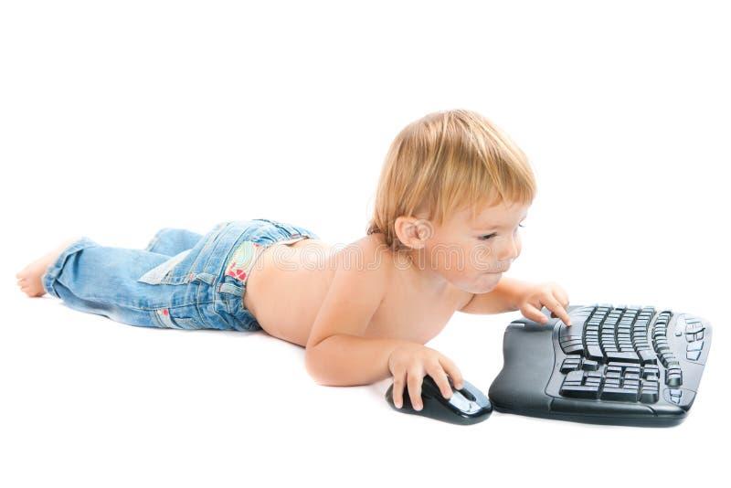 dziecka klawiatury mysz zdjęcia stock