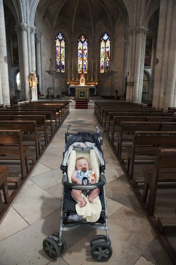 dziecka kościelny uczelniany Martha s st tarascon zdjęcie royalty free