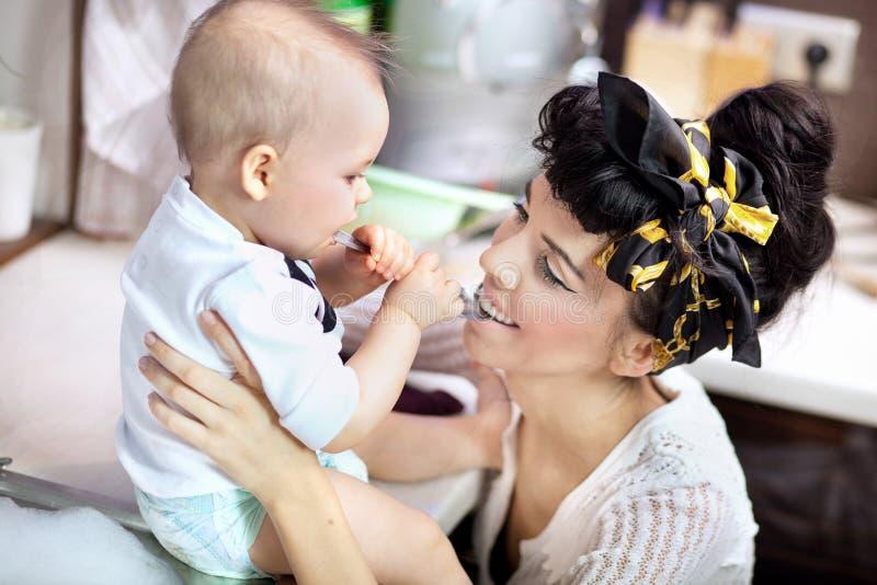dziecka kobiety potomstwa zdjęcia royalty free