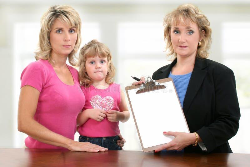 dziecka konferencyjny spotkania rodzica nauczyciel zdjęcia royalty free