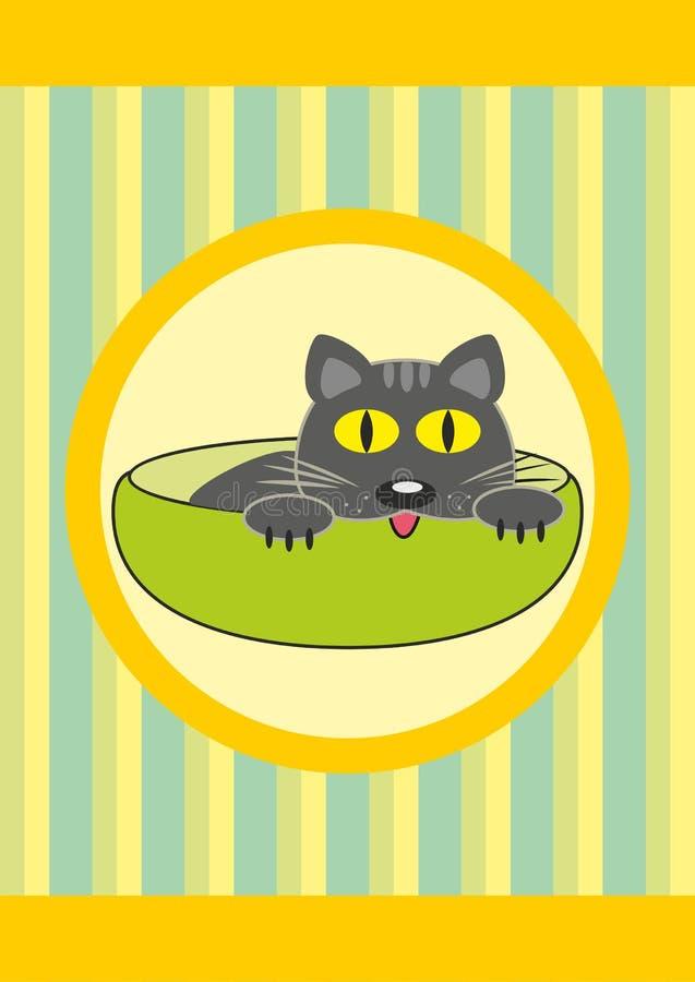 dziecka kreskówki kota filiżanki zwierzę domowe obrazy stock