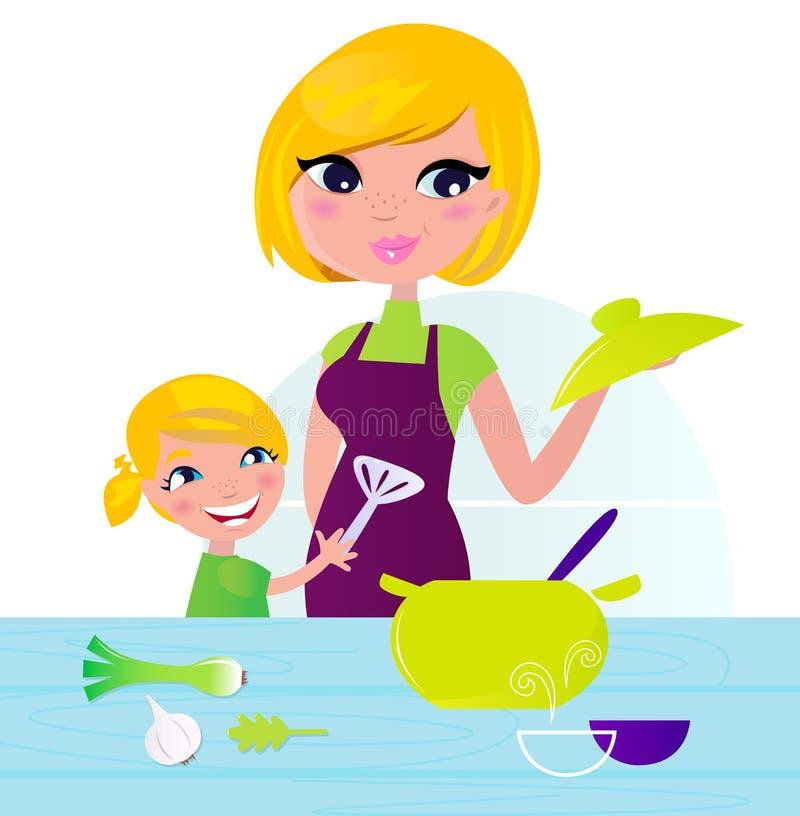 dziecka kulinarna karmowa zdrowa kuchni matka ilustracji