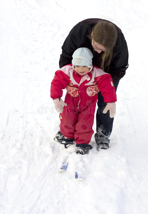 dziecka matki narta target213_1_ zdjęcie royalty free