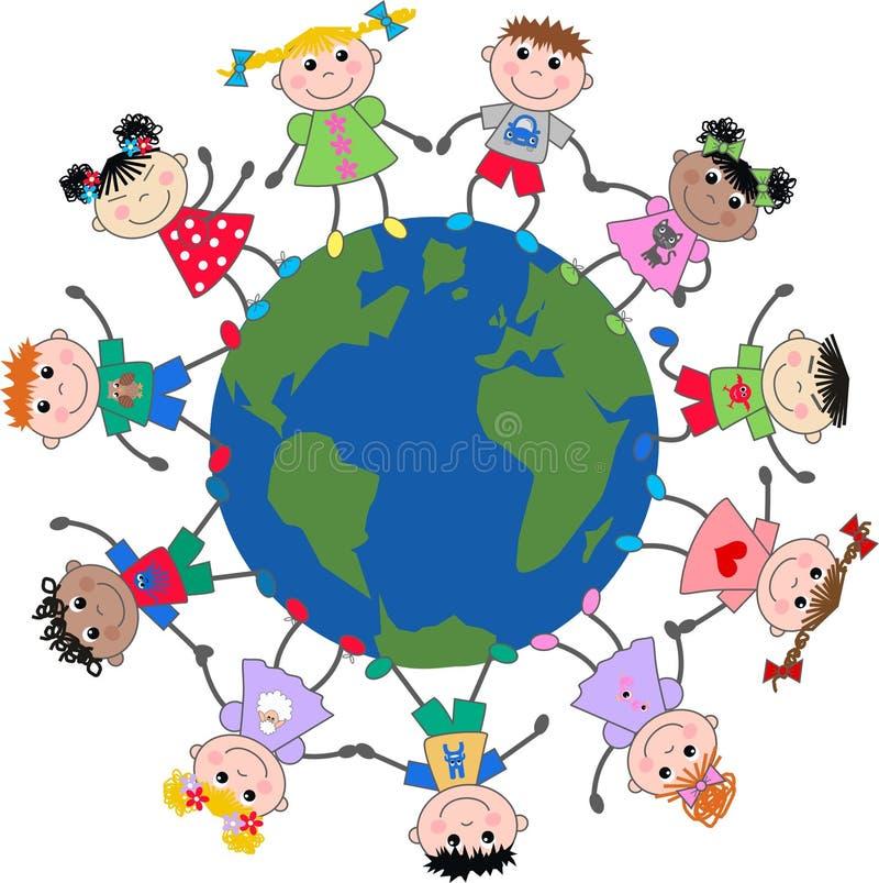 dziecka mieszany etniczny royalty ilustracja