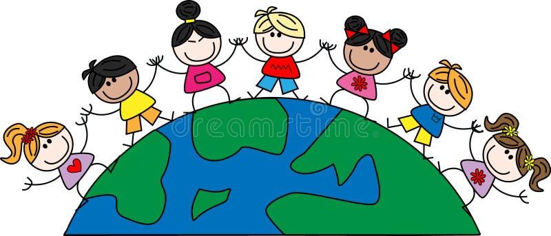 dziecka mieszany etniczny ilustracja wektor