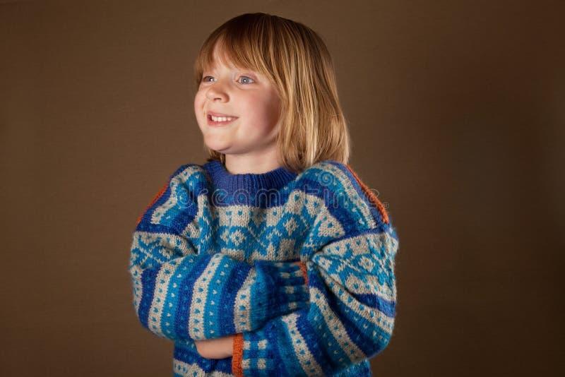 dziecka mody pulower fotografia royalty free