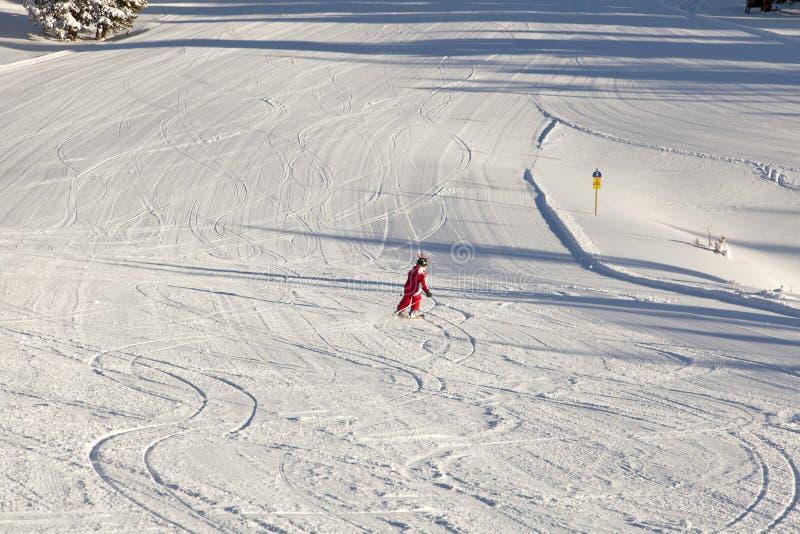 Dziecka narciarstwo zdjęcie royalty free
