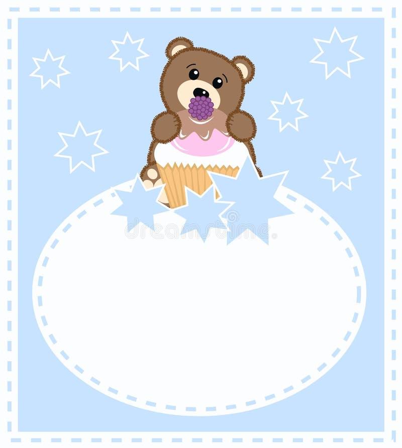 dziecka niedźwiedzia karta royalty ilustracja