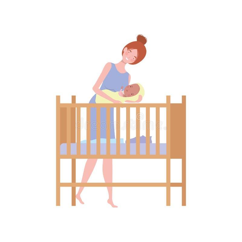dziecka nowonarodzeni kobiety potomstwa royalty ilustracja