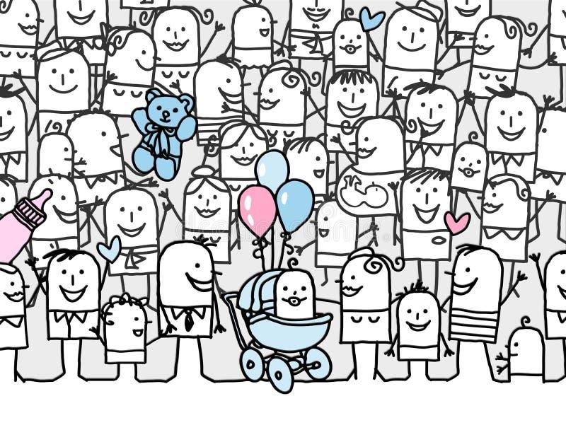 dziecka nowy urodzony royalty ilustracja