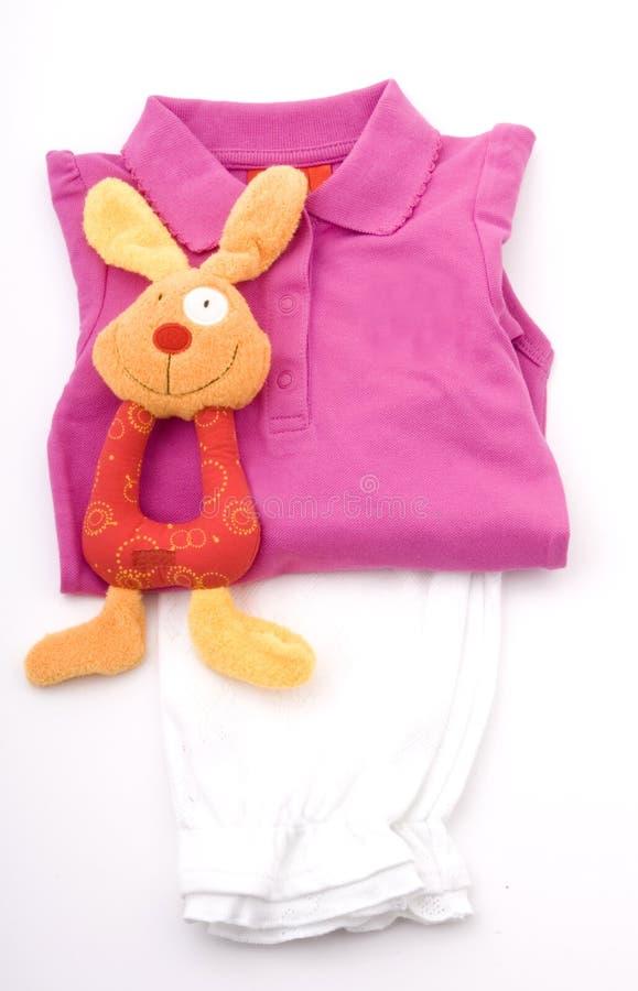dziecka odzieżowa dziewczyny miękkiej części zabawka obraz royalty free