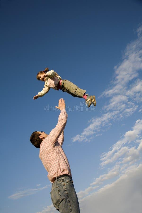 dziecka ojca miłości niebo zdjęcie stock